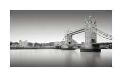 Mighty (GlennDriver) Tags: black white bw mono monochrome london river thames bridge no colour long exposure uk england
