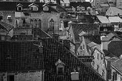 Rooftops of Dubrovnik (V Photography and Art) Tags: rooftops monochrome blackandwhite bw croatia dubrovnik pointofview