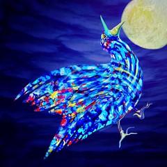 """Trippy"" (donnacoburn1) Tags: imaginative fantasy surrealist surrealism nature bird drawing safe public original colourful colour painting art apps apple ipadpro mobile surreal creative"