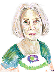 Girl holding cake (faceseveryday) Tags: fed136 art illustration drawing redditgetsdrawn portrait photoshop caucasian sketch scribble female girl woman cake