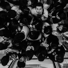 In elevator after concert!! (Kompakin Borwornpakramil) Tags: fujifilm gfx50s gf3264mmf4rlmwr bw monochrome blackandwhite people thailand elevator mediumformat me streetphotography