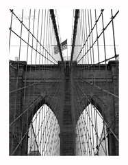 El puente más famoso de NY (Alicia B,) Tags: manhattan eeuu puentebrooklyn newyork nyc blancoynegro bn bw brooklynbridge