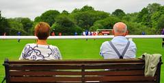 On the bench (Nick White2009) Tags: non league football pre season friendly stockbridge fc fareham people green sport bench seat spectator