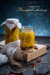 Pineapple chutney (color and spices) Tags: pineapple fruit summer chutney condiments pickle monsoon food foodphotography foodstyling