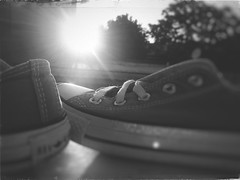 good luck my baby_ (RoS_Roll over Shape_) Tags: dreaming bright sunny street converse going walking shoes blackwhite