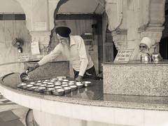 Gurdwara Bangla Singh, Delhi (alison ryde - back in town for now) Tags: india asia indiansubcontinent delhi religion worship placesofworship capital city capitalcity alisonryde holiday february 2017 photography explore voyages devotion sikh sikhism gurudwara temple gurudwarabanglasingh monochrome bw blackandwhite mono olympus em1