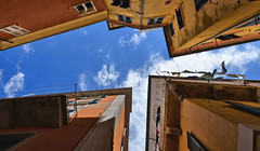 up (poludziber1) Tags: city colorful cityscape color colorfull clouds street streetphotography summer skyline sky architecture abstract italia italy light liguria lerici urban travel blue building