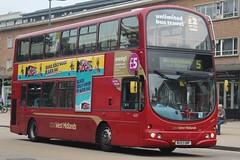 National Express West Midlands Volvo B7TL/Wright Eclipse Gemini 4525 (BU53 UNF) (Acocks Green) 'Karen' (john-s-91) Tags: nationalexpresswestmidlands volvob7tl wrighteclipsegemini 4525 bu53unf solihull route5 mtvbeats