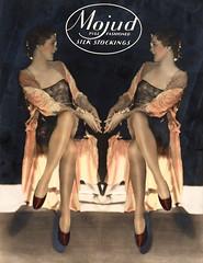 1930s Mojud Stockings store display (Tom Simpson) Tags: stockings nylons thighhighs vintage woman legs lingerie 1930s ad ads advertising advertisement vintagead vintageads mojud