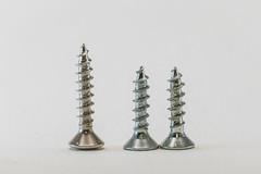 Two against one (kaifr) Tags: highkey screws macro three closeup metal