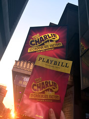 Charlie and the Chocolate Factory at the Lunt-Fontanne Theatre (katyreccophotography) Tags: manhattan newyorkcity theatredistrict charlieandthechocolatefactory luntfontannetheatre christianborle playbill