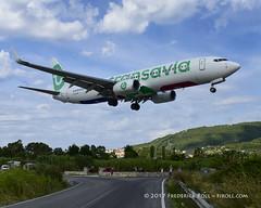 Transavia B737 ~ PH-HXF (© Freddie) Tags: skiathos thessaly sporades aegean greece jsi lgsk ©freddie fjroll