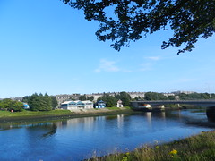 Evening Reflections, Torry, Aberdeen, July 2017 (allanmaciver) Tags: torry aberdeen north east coast scotland silver granite river dee trees silhouette reflections allanmaciver