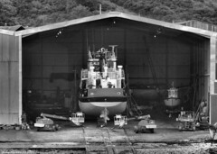 Scotland West Highlands Argyll the shipyard at Ardmaleish men working on the SD Melton 21 June 2017 by Anne MacKay (Anne MacKay images of interest & wonder) Tags: scotland west highlands argyll shipyard ardmaleish men working sd melton monochrome blackandwhite xs1 21 june 2017 picture by anne mackay