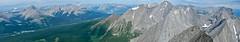 Mount Chester Summit Scramble - Summit pano (benlarhome) Tags: kananaskis alberta canada chesterlake mountchester scramble scrambling hike hiking trek trekking mtchester rockymountain mountain rockies