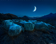 Moonrise, Sligachan (Matt Anderson Photography) Tags: isleofskye scotland colorimage dusk sligachan beinndeargmhor marsco sgurrnangillean bruachnafrithe blackcuillin redhills lochcoruisk summit horizonoverland mountain nature nopeople outdoors photography rockobject scenics tranquility uk moon moonrise moonset waxing crescent luminous travel traveldestination tourism night naturallandmark scottishhighlands unitedkingdom copyspace remote nonurbanscene dramaticlandscape highlandislands extremeterrain europe rustic moody mountainpeak range ridge pinnacleformation wildernessarea dramaticsky roomforcopy horizontal halloween spooky scary foreboding lunar zodiac astrology nightsky frozen frost frosty alltdaraich madison wisconsin usa