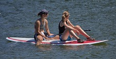 River Boarding (swong95765) Tags: woman females ladies sunshine paddle board water river