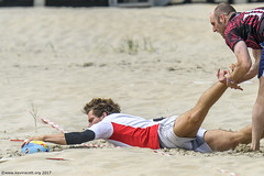 H6G64077 Ameland Invites v Baba Bandits (KevinScott.Org) Tags: kevinscottorg kevinscott rugby rc rfc beachrugby ameland abrf17 2017 vets veterans netherlands