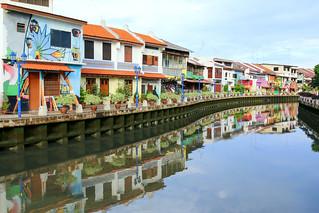 Along the river in Melaka, Malaysia