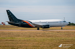 G-ZAPW | Boeing 737-3L9 | Titan Airways (Operating for Aurigny Air Services Ltd) | Guernsey Airport (GCI/EGJB) | 17/07/2017 (Pilot Tris) Tags: aurigny guernsey channel islands embraer atr aviation aircraft aviate wings aeroplane plane prop airport propellers jet propeller props turbo turboprop jersey rocks airlines flybe avgeek blue island overview sun sea sand airliner airline airplane airplanes bombardier purple dornier cessna netjets gomaf asg