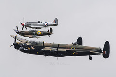 BBMF Lancaster and spitfires flypast (Perfect Moment Images) Tags: ps915 p7350 kangaroo thumper leader pa474 spitfire lancaster flight memorial britain of battle bbmf riat 2017 17 fairford ffd egva raf airport airbase ab usaf 70th anniversary