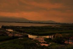 Atardecer (JC Arranz) Tags: sky landscape sunset water river travel evening españa naturaleza rojo atardecer tarragona oscuridad deltadelebro amposta no person