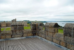I'm the king of Pendennis Castle (zawtowers) Tags: cornwall kernow summer holiday break vacation july 2017 pendennis castle falmouth english heritage cloudy afternoon sunday 16th historic site monument view top tower turrets overlooking town