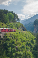 Bernina Express (miguel_sanada) Tags: canon5d 1635mmf4 switzerland berninaexpress train landwasserviaduct bridge filisur