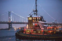 This photo is from Parade of Lights (phillyseaport) Tags: bluecadet christmas independenceseaportmuseum paradeofboats