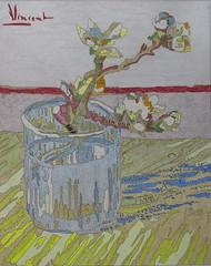 Branche d'amandier en fleurs dans un verre - Arles - Van Gogh - 1889_0 (Luc II) Tags: vangogh amandiers arles
