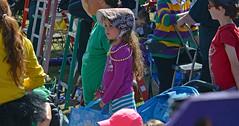 Hopeful (BKHagar *Kim*) Tags: bkhagar mardigras neworleans nola la louisiana crowd people krewe midcity beads celebration parade street napoleon uptown 2017 girl child watching bonnet ladders