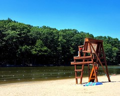 This Is Summer (SurFeRGiRL30) Tags: circlevillepark upstateny ny beach lake quaint sun sunny sunshine sunlight sand water trees woods lifeguardstand wooden wood ripples swimming summertime summer