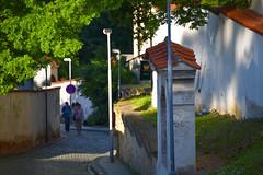 Mala Strana walk (jmarnaud) Tags: czech 2017 walk summer sunset city mala strana old building castle blue sky street people hill pétrin statue