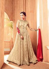 Beige Jacquard And Satin Anarkali Suit (nikvikonline) Tags: satin satinsalwar salwarkameez pakistani pakistanisuit suit suitsalwar salwar kameez designersalwar salwarsuit designer kamiz kamizonline suits straight pant green blue bridal wedding dress dresses