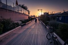 Bonne soirée / Good evening (Gilderic Photography) Tags: cattolica italie italia sunset beach promenade walk italy family bicycle bike summer vacation travel panasonic lumix lx100 gilderic