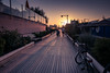 Bonne soirée / Good evening (Gilderic Photography) Tags: cattolica italie italia sunset beach promenade walk italy family bicycle bike summer vacation travel panasonic lumix lx100 gilderic