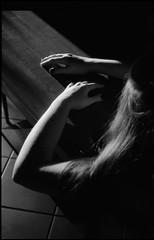 (Laura Marchini) Tags: black allblack blackwhite white analog analogue nikon nikonitalia nikonfm2 photography 35mm film filmisnotdead smoke days intolife girl human nature lights sun sunset home memory herbody body