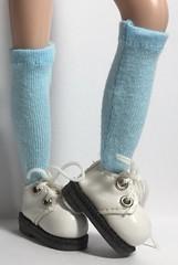 Fresh Blue...Tall Socks For Blythe...