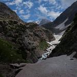 Passing glaciers on the way - Amarnath Yatra, 1. day from Chandanwari to Sheshnag, Kashmir, India thumbnail