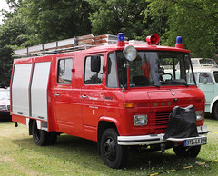 Little Mercedes Fire Truck (Schwanzus_Longus) Tags: bockhorn german germany van bus window vehicle fire fifhting department brigade feuerwehr small little pumper truck engine mercedes benz 608d old classic vintage