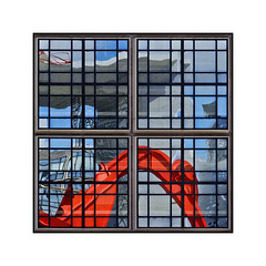 Window (jldum) Tags: paris arche architecture architect art artiste artistic artist reflets reflections reflection sony sonyilca99m2