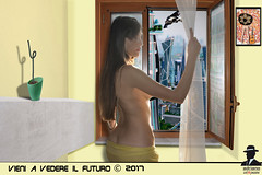 FINESTRA SUL FUTURO ----WINDOW ON FUTURE (ADRIANO ART FOR PASSION) Tags: futuro future finestra window ragazza girl photoshop photomontage fotomontaggio allafinestra finestrasulfuturo fantasia fantasy adrianoartforpassion