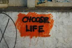 CHOOSE LIFE (nothinginside) Tags: choose life trainspotting motto irvine welsh pescara italy graffiti murale murales scegli vita 2017 portanuova summer somewhere