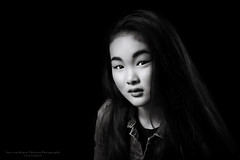 Pure II (Passie13(Ines van Megen-Thijssen)) Tags: studioshoot portrait portret pure puur girl meisje blackandwhite fineart bw sw zw zwartwit monochroom monochrome monochrom canon netherlands inesvanmegen inesvanmegenthijssen