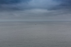 Minimalism (Jill Clardy) Tags: california northamerica sanfrancisco usa pacifica pacific ocean coast coastal fog foggy sea waves clouds cloudy gray day 201706254b4a4642 davil devils slide trail highway 1 cabrillo explore explored boat sailboat