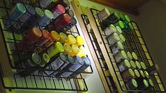 Flickr Friday: ABitOfOrder (Hayseed52) Tags: flickrfriday abitoforder paintrack rack paint colors acrylics studio artist painter