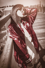 Exposed (Keltron - Thanks for 10M Views!) Tags: christina redhead redhair beautifulgirl sexygirl modeling latina girlwithglasses girlwearingglasses satinjacket