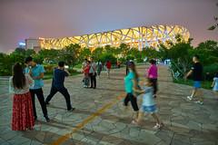National Stadium (RoselliDigital) Tags: beijing china subway greatwall birdsnest nationalstadium aquaticcenter travel forbiddencity tiananmensquare justinfurneaux tour guidejojo hike olympics