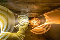 Tunnel Trails (stephenk1977) Tags: australia queensland qld brisbane alderley grinstead park culvert tunnel lightflute light painting art wand waving warm cool white convoys2 torch flashlight night nikon d3300 photography
