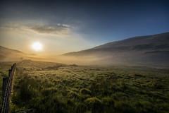 Misty Sunrise In Snowdonia (gopper) Tags: wales scenery mist misty capelcurig welsh cymru cymraeg snowdon snowdonia gwynedd postcard ngc nikon d7100 sigma 10mm 1020mm wire sunrise amazing landscape mountain mountains moelhebog hill hills walking